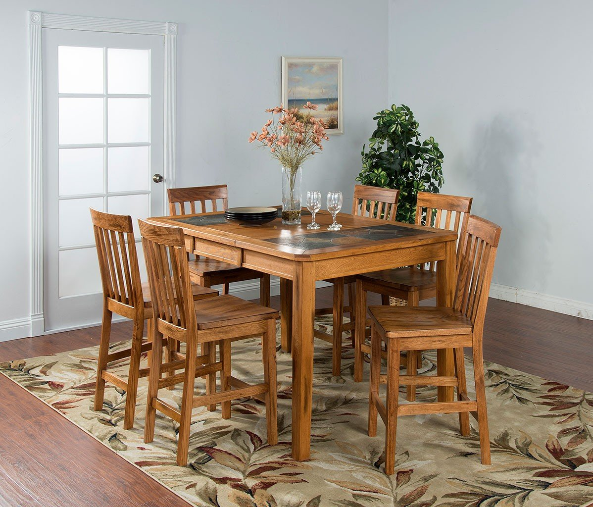 Sedona Extension Counter Height Dining Room Set Sunny