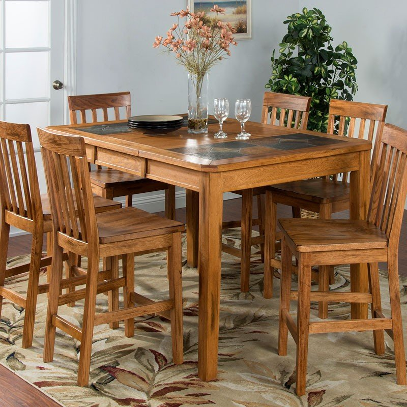 Sedona Extension Counter Height Dining Table Sunny Designs
