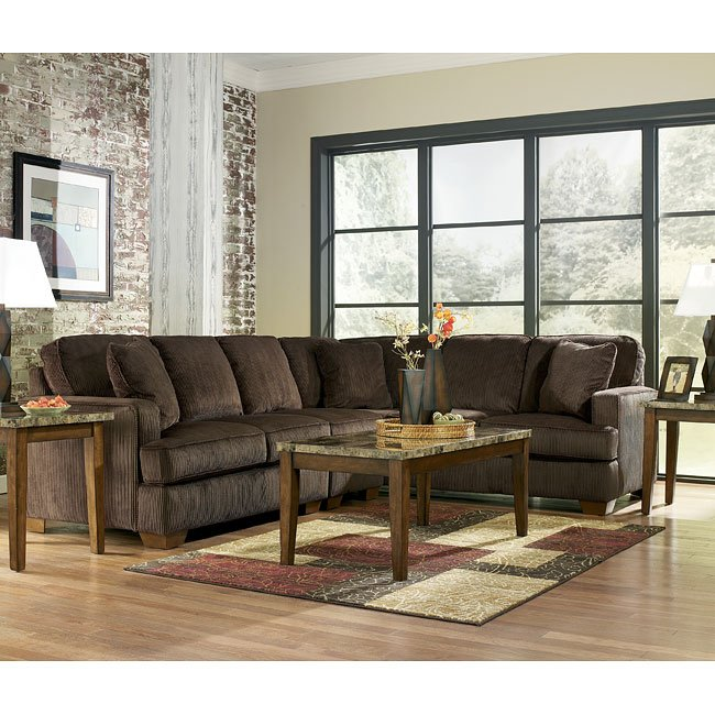 Atmore - Chocolate Right Sofa Sectional