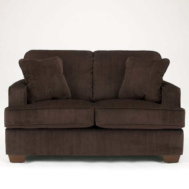 Atmore - Chocolate Loveseat