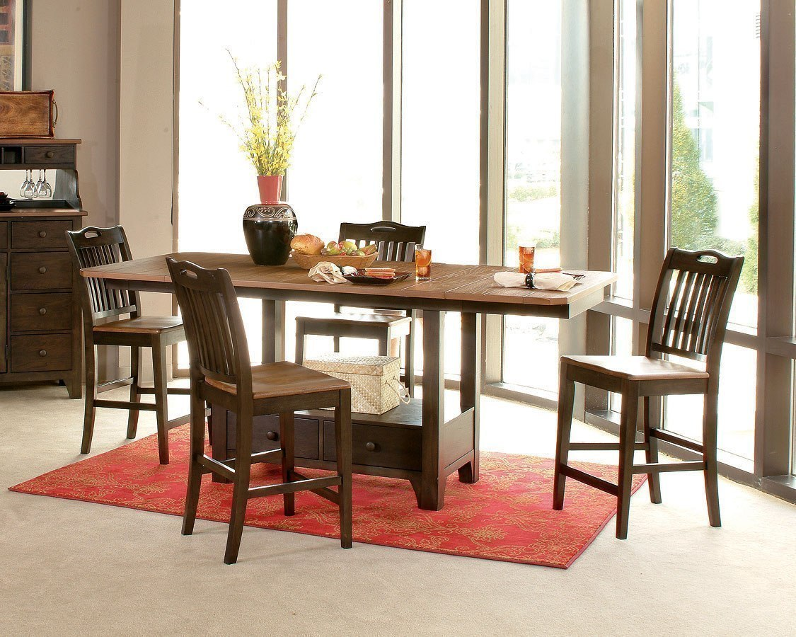 American Heritage Refractory Counter Dining Room Set Lc Furniture Cart