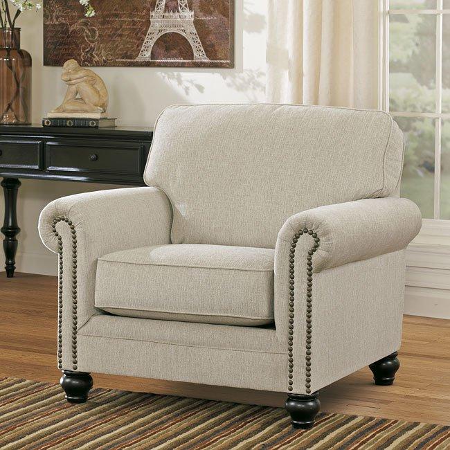 Milari Linen Chair Signature Design Furniture Cart