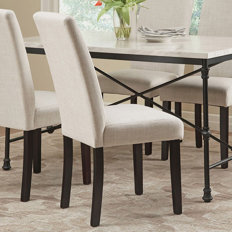 Commercial Grade Parsons Chair Ivory Set Of 2 Coaster Furniture Cart