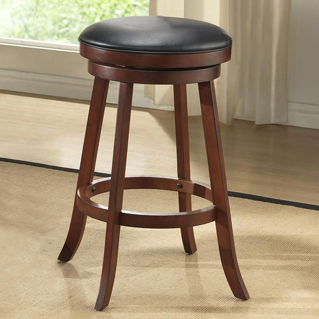 Amazing 24 Inch Burnished Cherry Backless Stools Set Of 2 Short Links Chair Design For Home Short Linksinfo