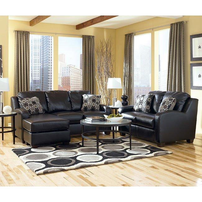 Living Room Furniture Sets Black: Black Living Room Set Signature Design