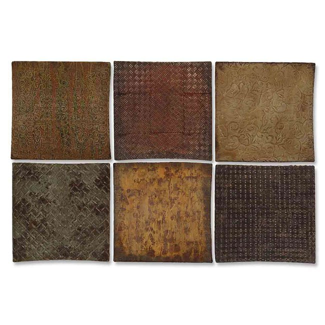 Concaved Squares Wall Art (Set of 6)
