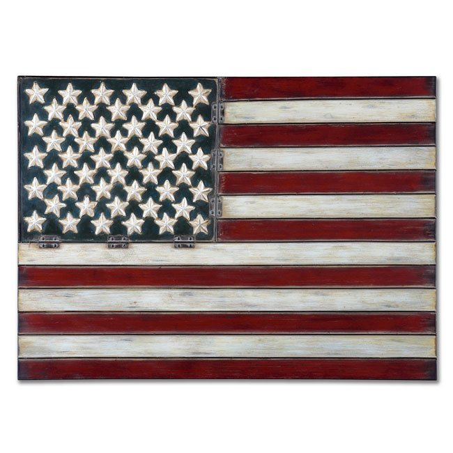 American Flag Metal Wall Art