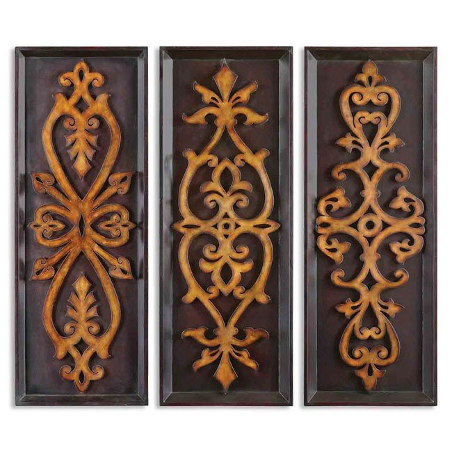 Amora Plaques Metal Wall Art (Set of 3)