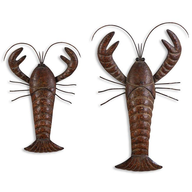 Lobsters Metal Wall Art (Set of 2)