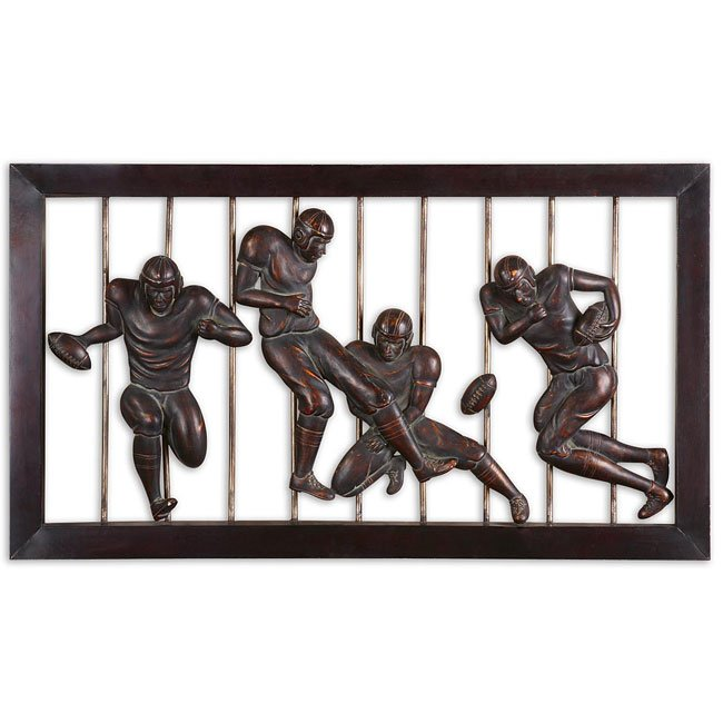 Vintage Football Metal Wall Art