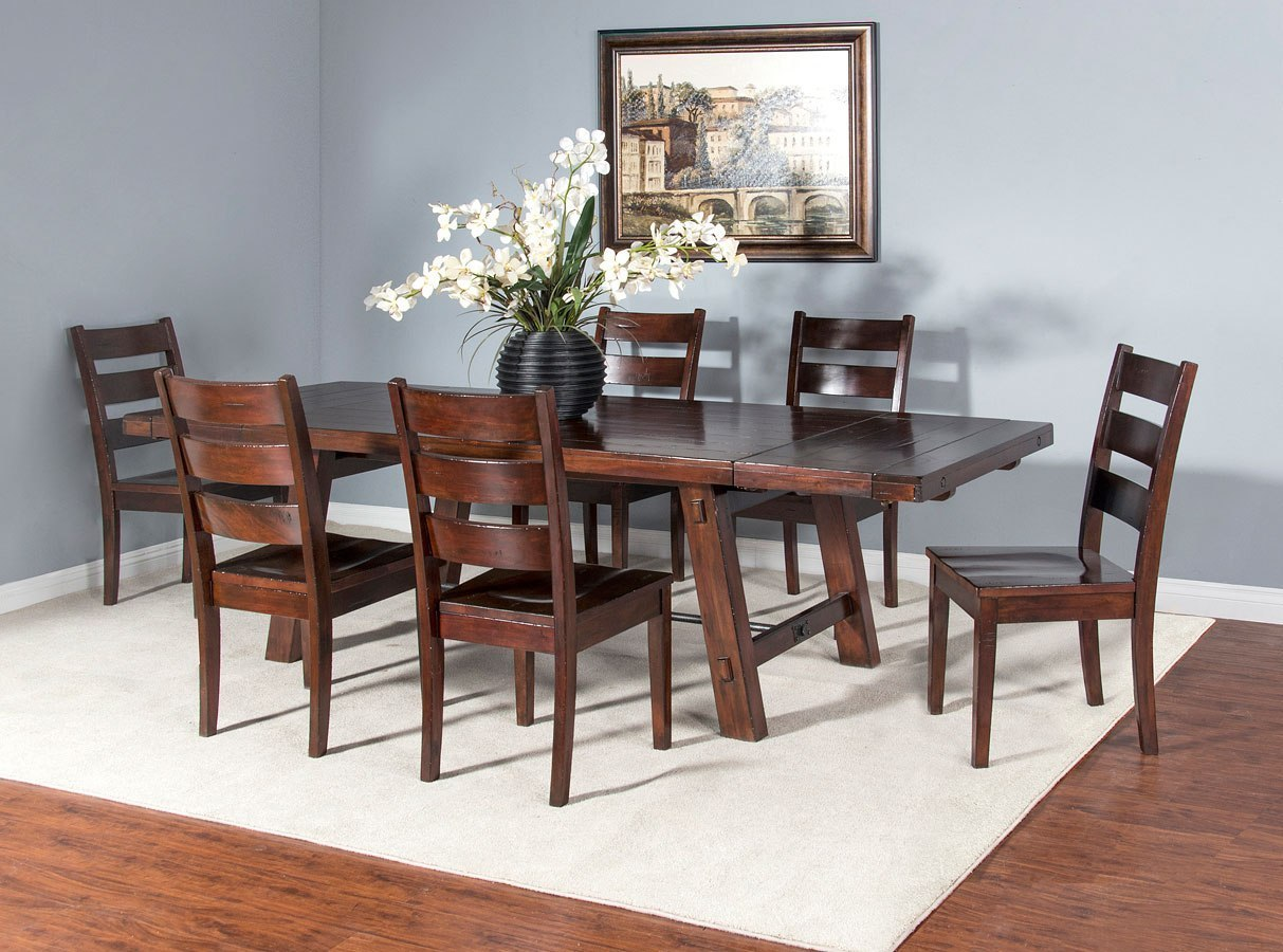 Vineyard Rustic Extension Dining Room Set Sunny Designs ...