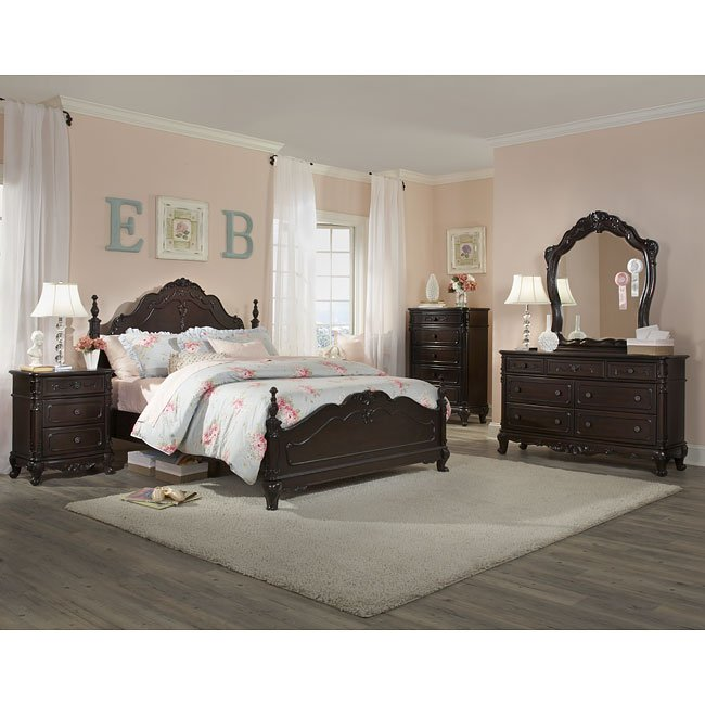 cinderella bedroom set (cherry) homelegance | furniture cart