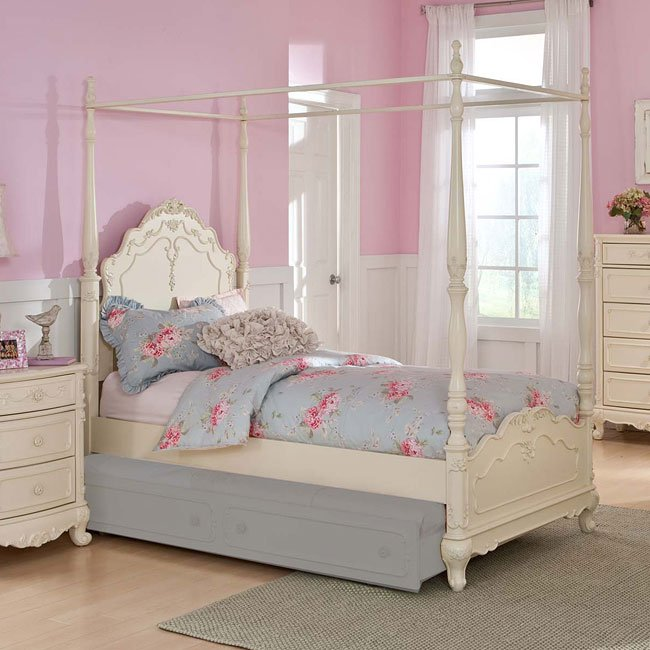 Cinderella Youth Canopy Bedroom Set Homelegance, 4 Reviews