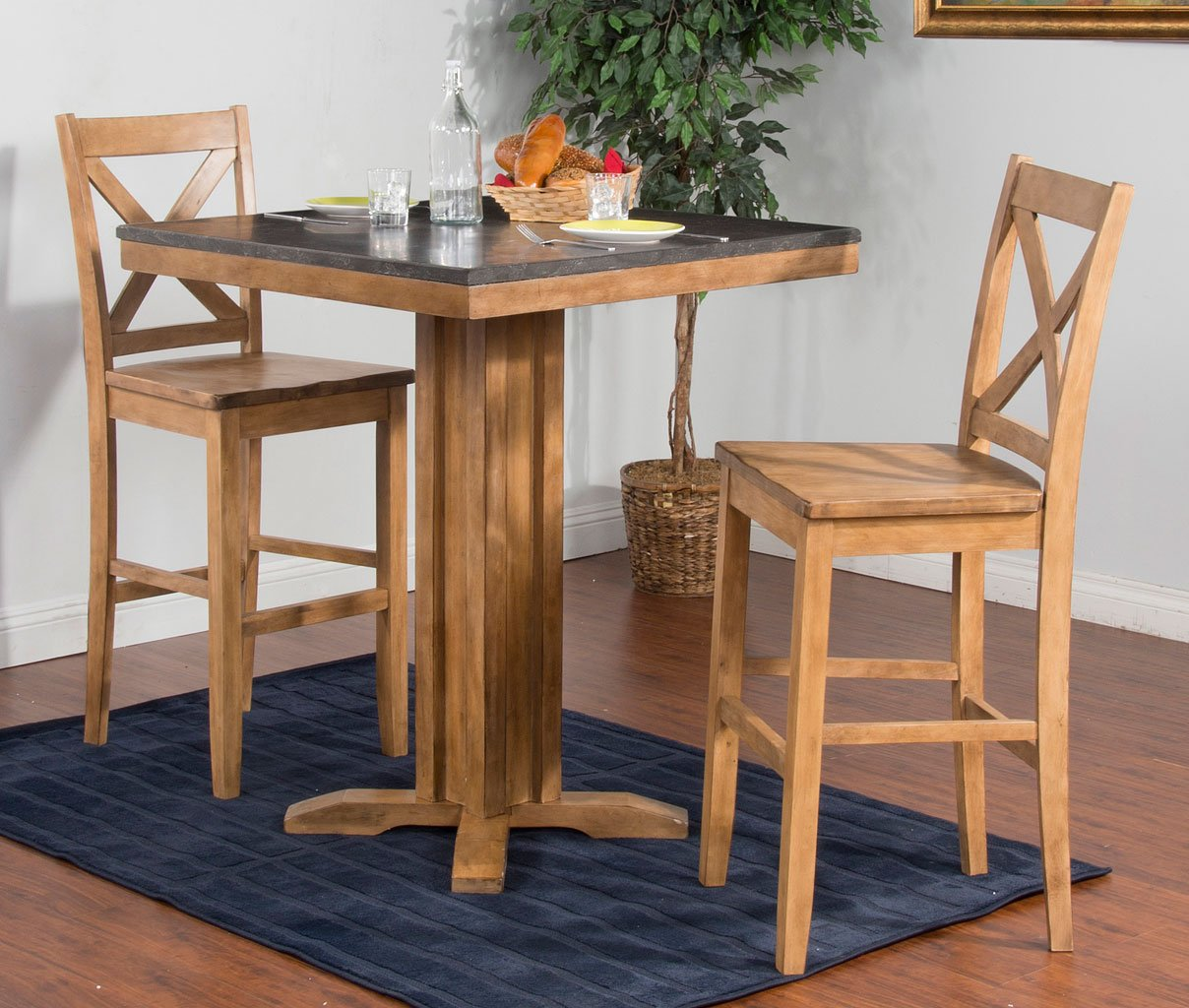 Delicieux Blue Moon 42 Inch Pub Table Set (Desert Sand)