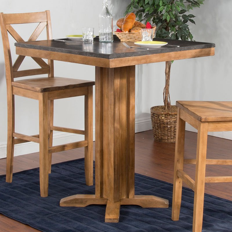 Blue Moon 42 Inch Pub Table (Desert Sand) By Sunny Designs