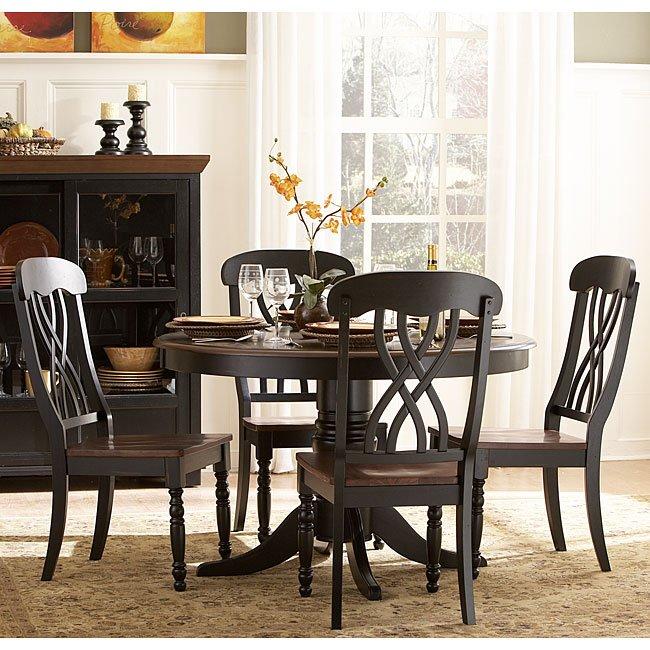 Ohana Round Dining Room Set (Black)