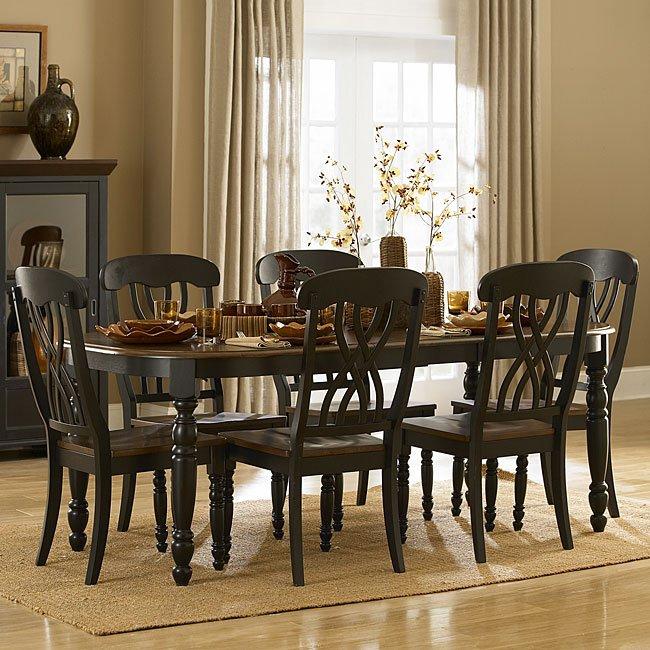 Black Formal Dining Room Set: Ohana Dining Room Set (Black) Homelegance