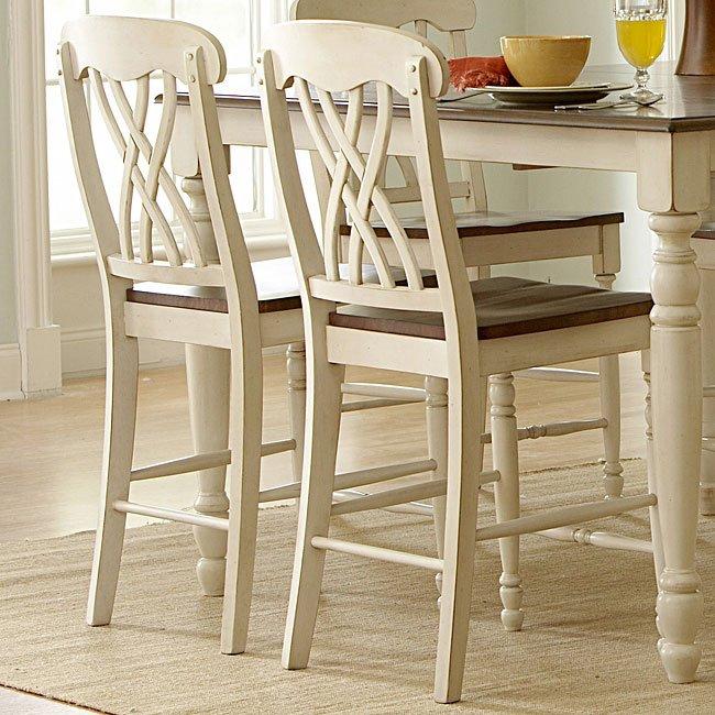 Ohana Counter Height Chair White Set Of 2 Homelegance