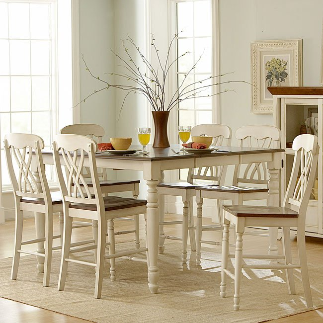 Ohana Counter Height Dining Room Set (White) Homelegance   Furniture ...