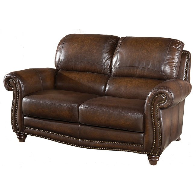 Parker Leather Loveseat By Italia