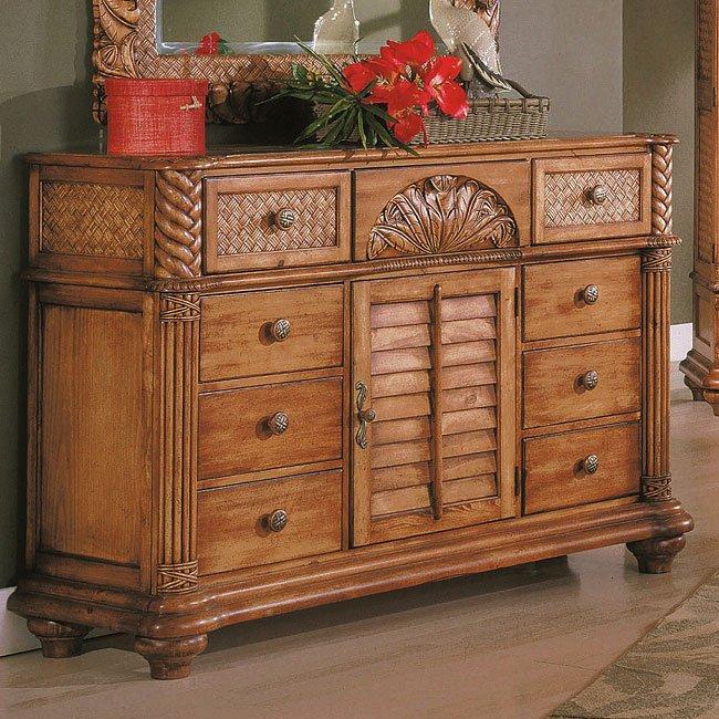 Palm Court Triple Dresser Island Pine By Progressive Furniture