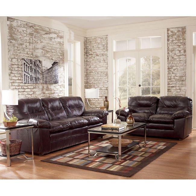 Demetrick - Burgundy Living Room Set