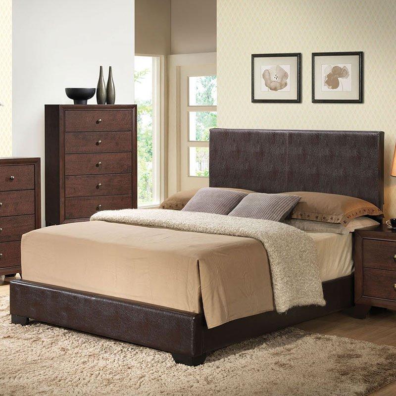 Ireland Upholstered Bed Brown Acme Furniture Furniture