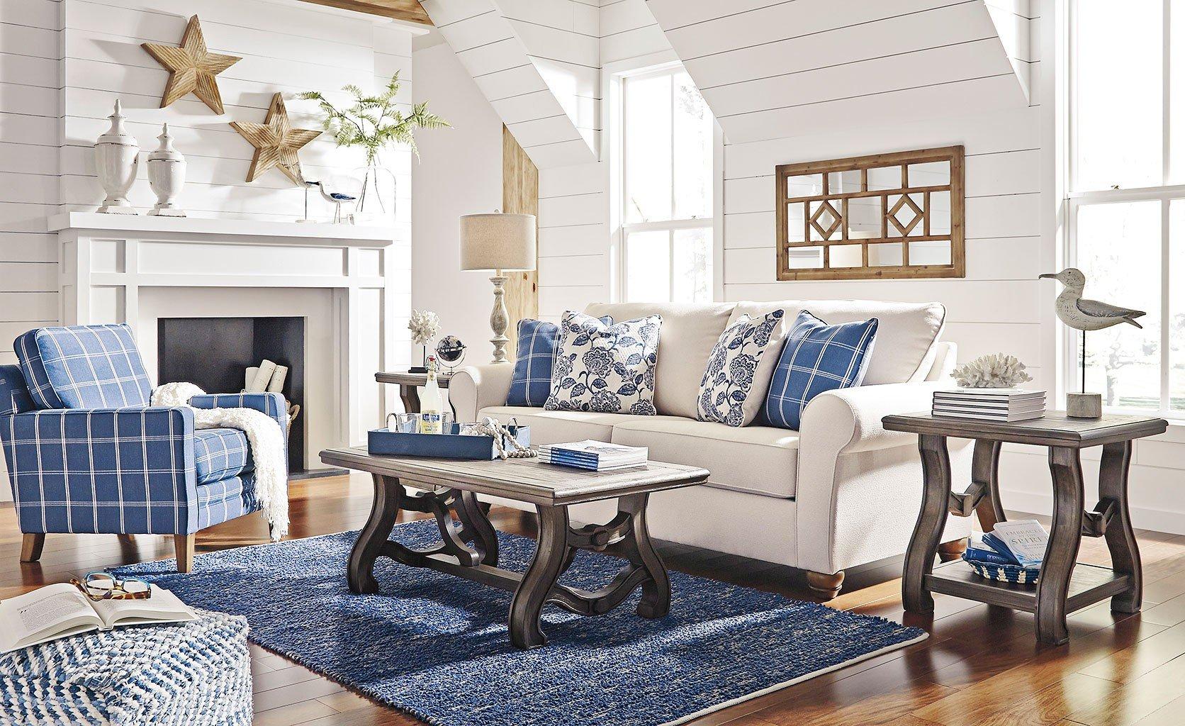 Adderbury Bone Living Room Set BenchCraft, 1 Reviews   Furniture Cart