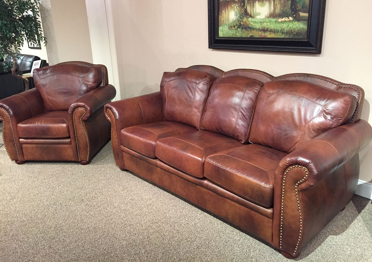 Arizona Leather Living Room Set Leather Italia, 2 Reviews ...