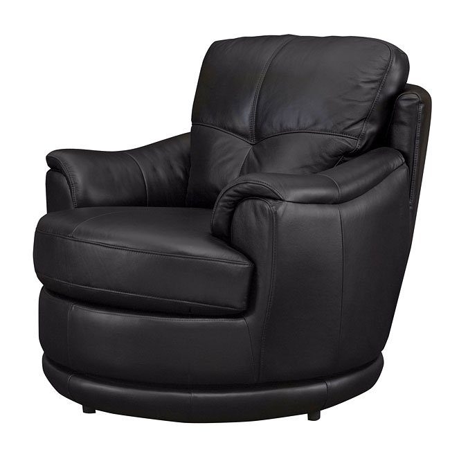 Awesome Globe Black Leather Swivel Chair Inzonedesignstudio Interior Chair Design Inzonedesignstudiocom