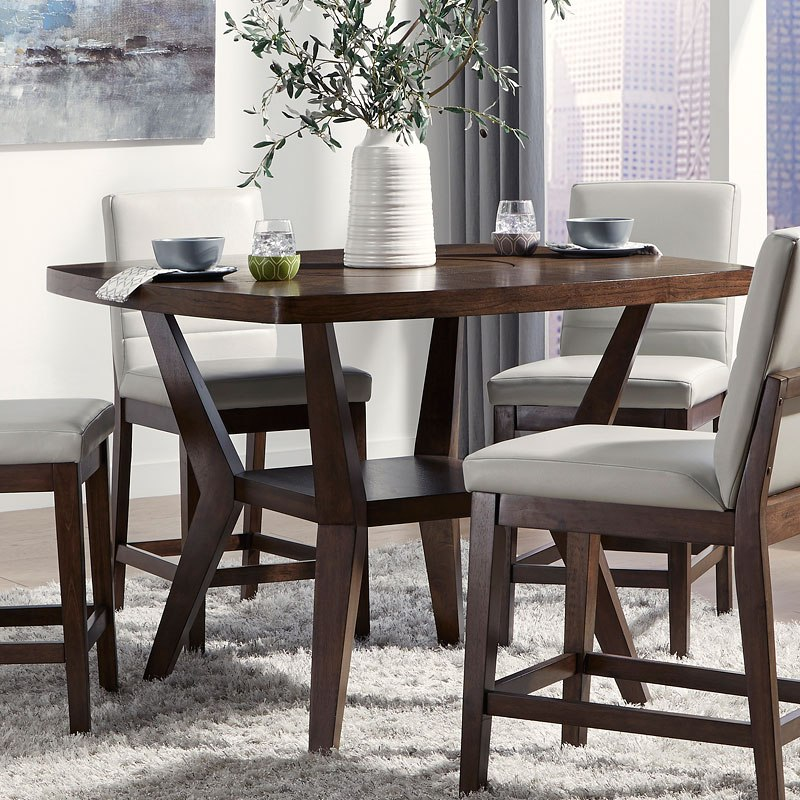 Mila Counter Height Table W Lazy Susan Standard Furniture
