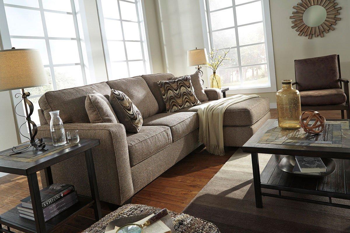 Tanacra Tweed Sofa Chaise Set Benchcraft Furniture Cart