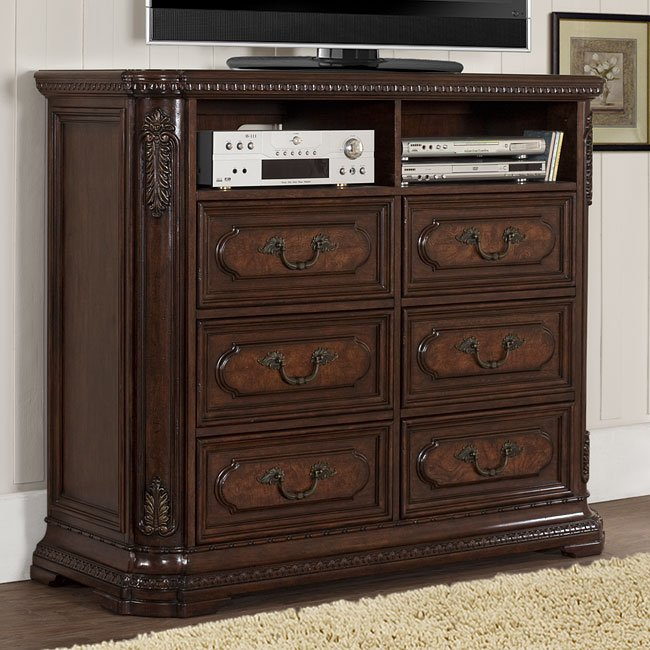 Spanish Bay Tv Chest Homelegance Furniture Cart
