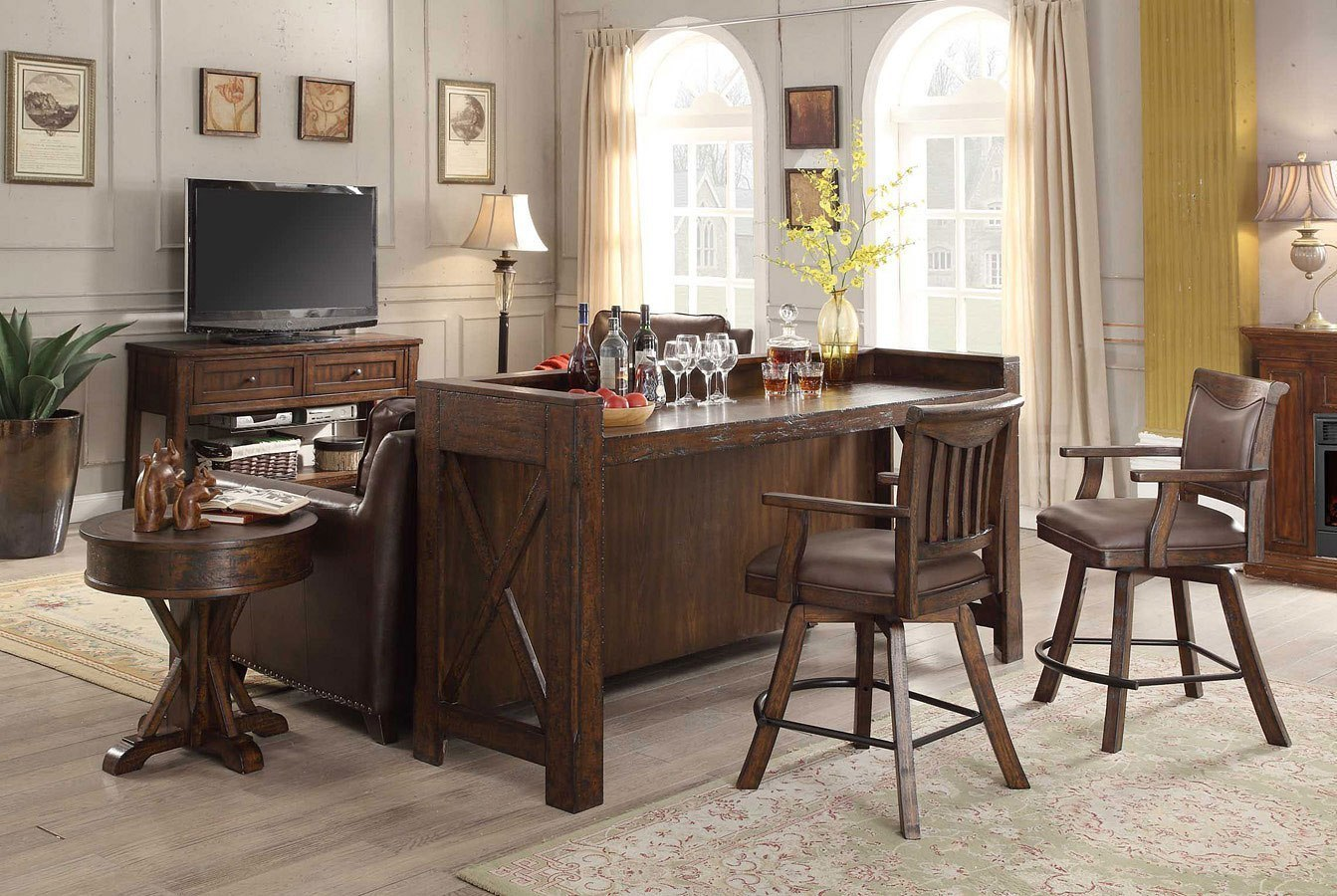 Gettysburg Theatre Bar Set Eci Furniture Furniture Cart