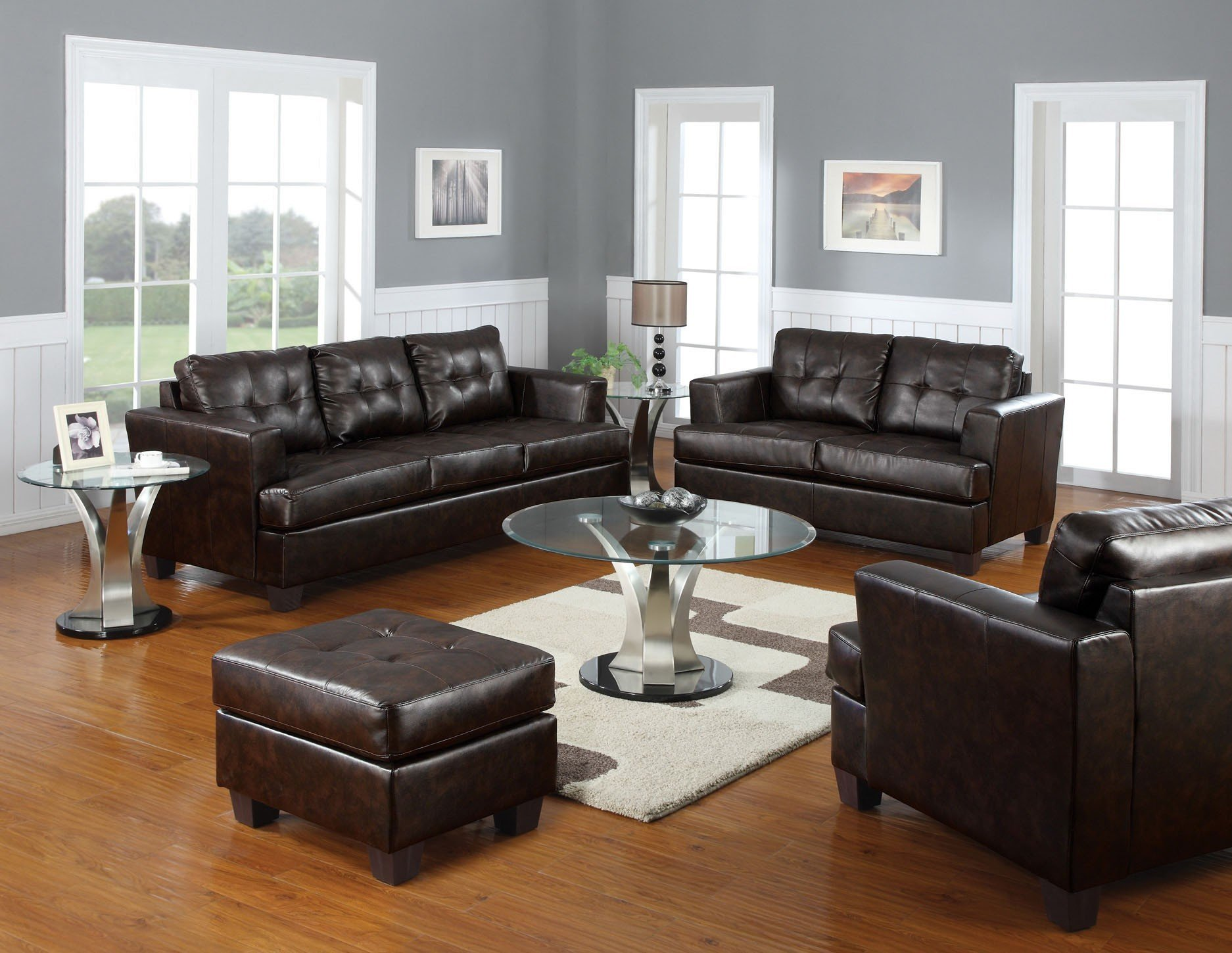 Astounding Platinum Living Room Set Brown Home Interior And Landscaping Ponolsignezvosmurscom