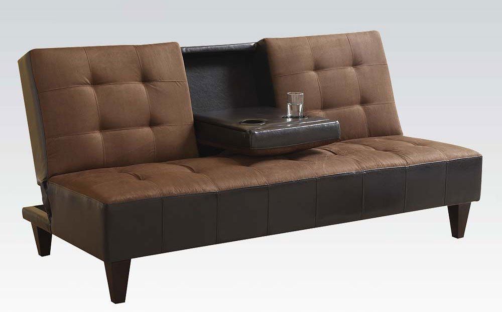 Sofa Bed W Cup Holder Acme Furniture