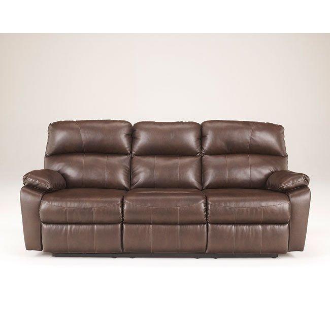 Tribulation Durablend Espresso Reclining Sofa Millennium Furniture Cart