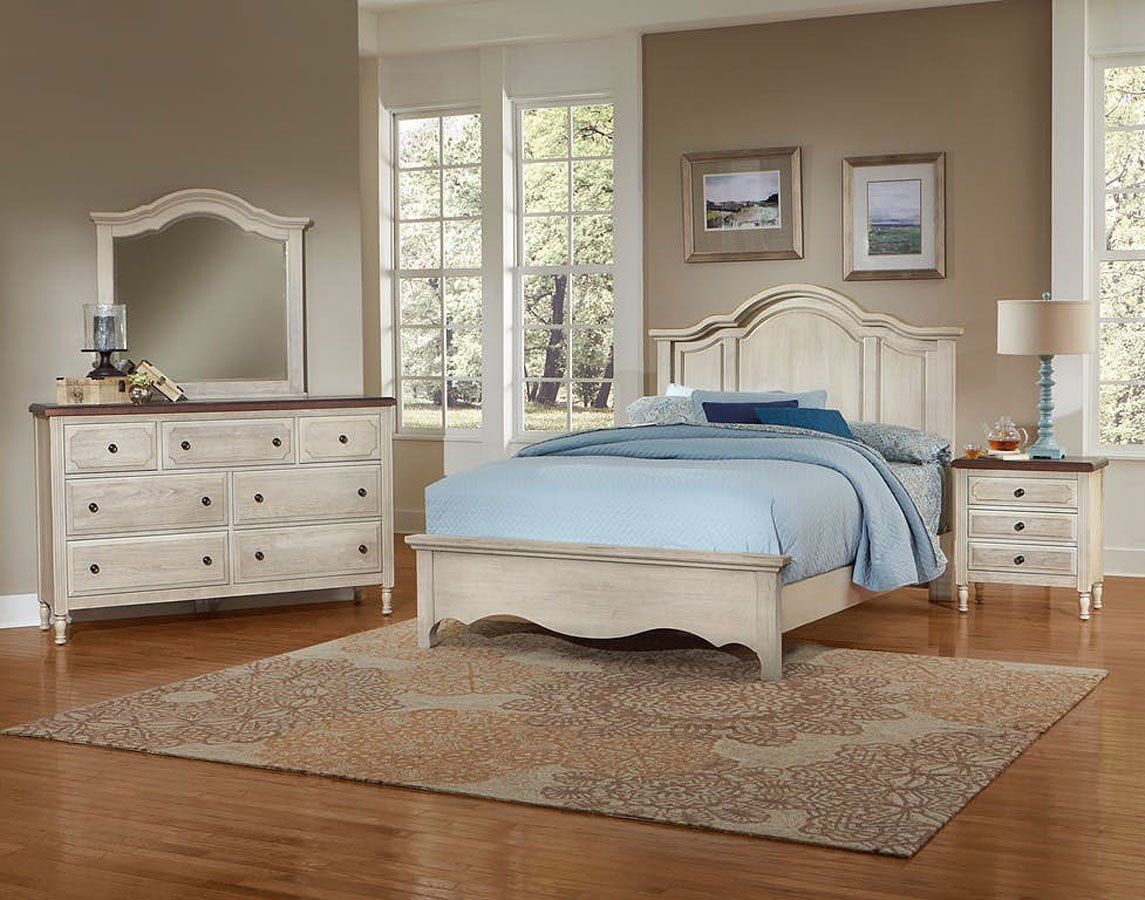 Hamptons Mansion Bedroom Set (Rustic White) Vaughan