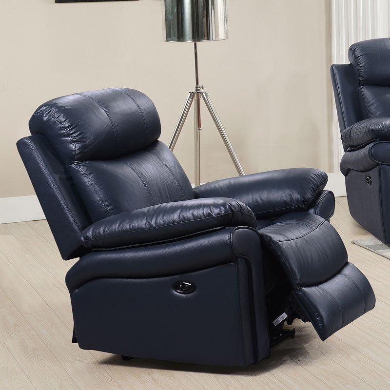 Joplin Power Reclining Chair (Navy)