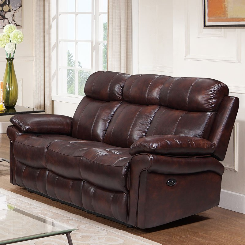 Joplin Power Reclining Sofa (Brown)