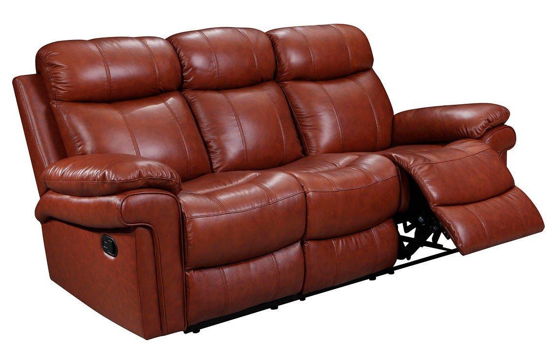 Joplin Power Reclining Sofa Saddle Leather Italia