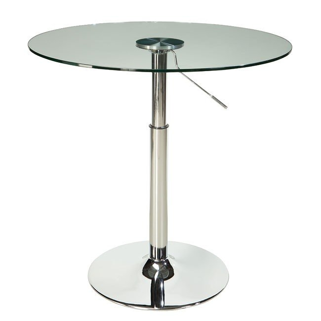 Standard Furniture Cosmo Adjustable Height Round Wood Top: Cosmo Modern Dinette W/ Adjustable Height Table Standard