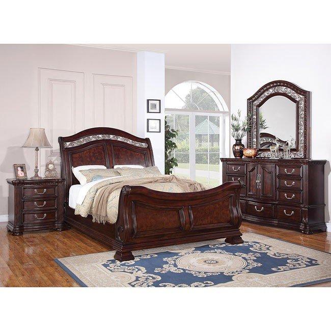 Alicante Sleigh Bedroom Set