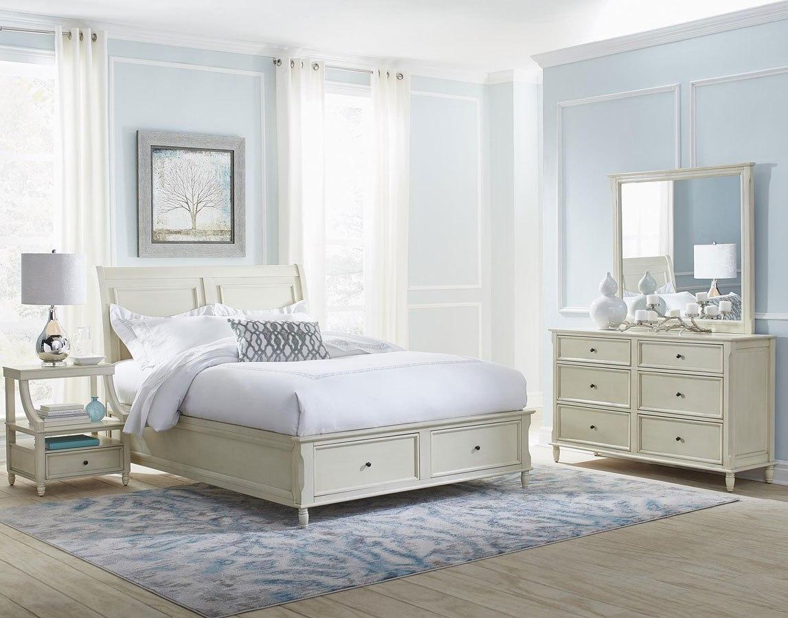 avignon storage bedroom set ivory jofran furniture furniture cart