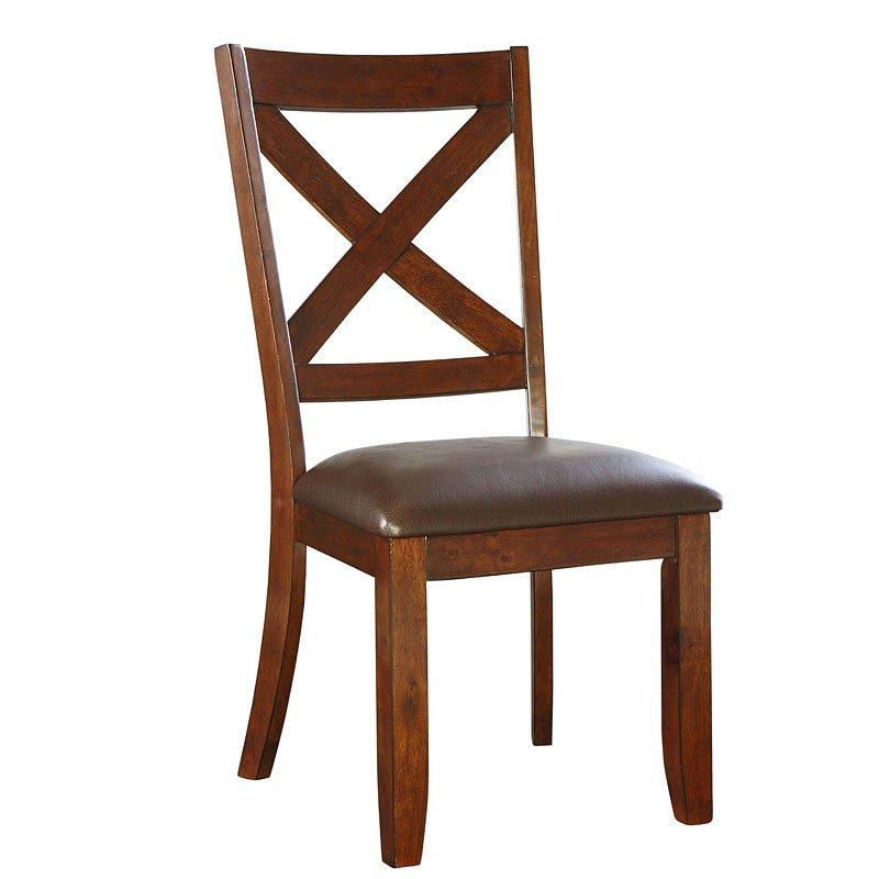Ashley Furniture Omaha Ne: Omaha Side Chair (Brown) (Set Of 2) Standard Furniture