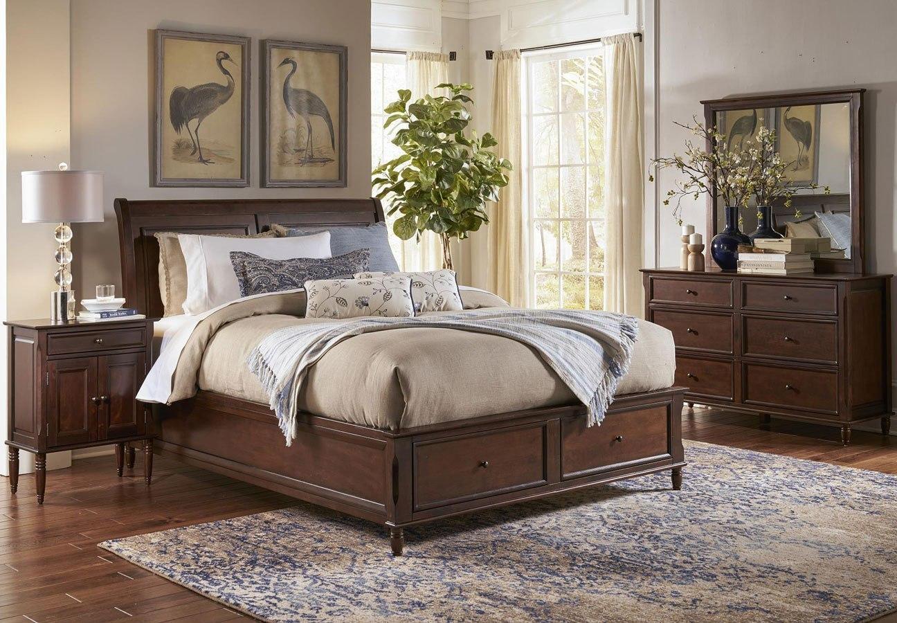 avignon storage bedroom set birch cherry jofran furniture furniture cart