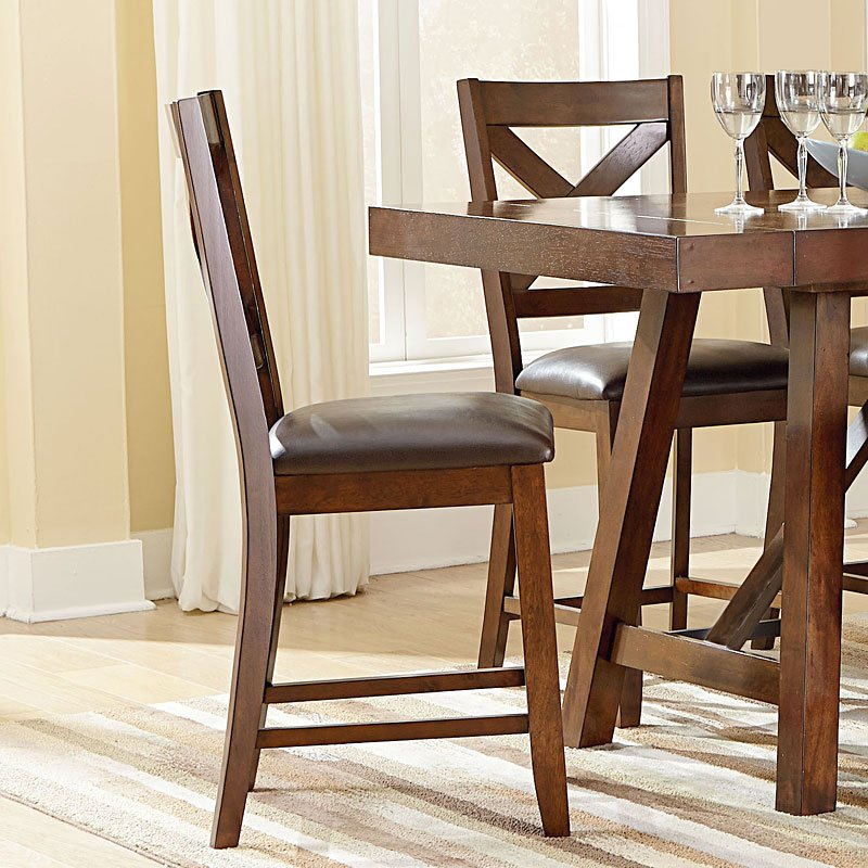 Kitchen Countertops Omaha: Omaha Counter Height Chair (Brown) (Set Of 2) Standard