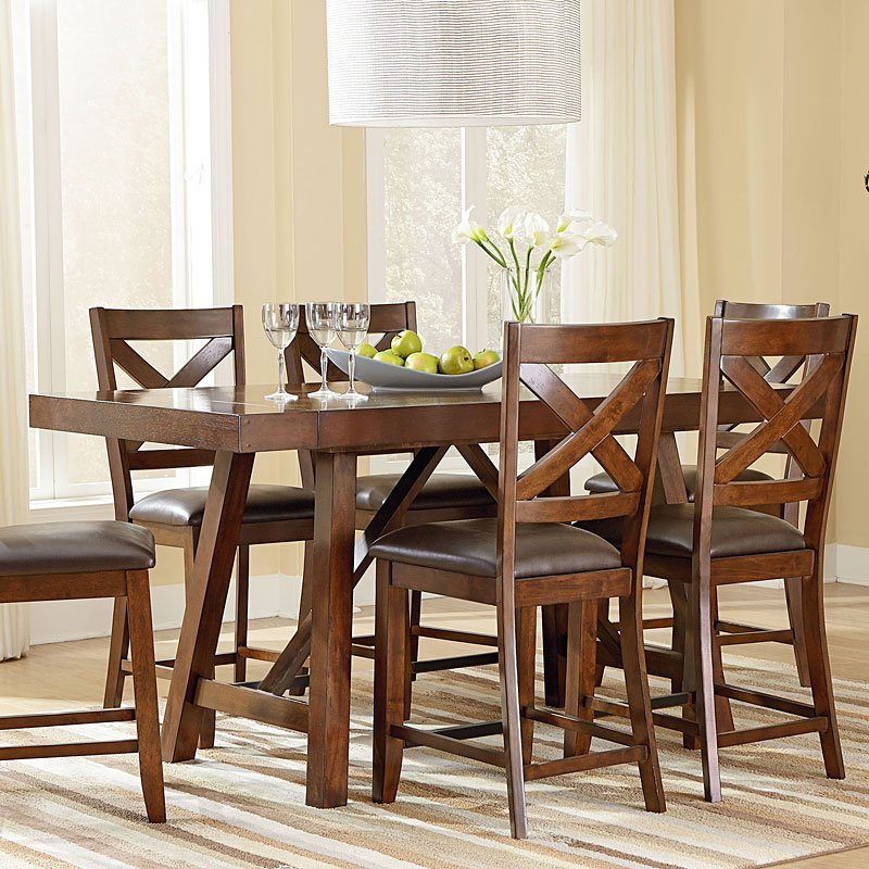 Omaha Counter Height Dining Table (Brown) Standard