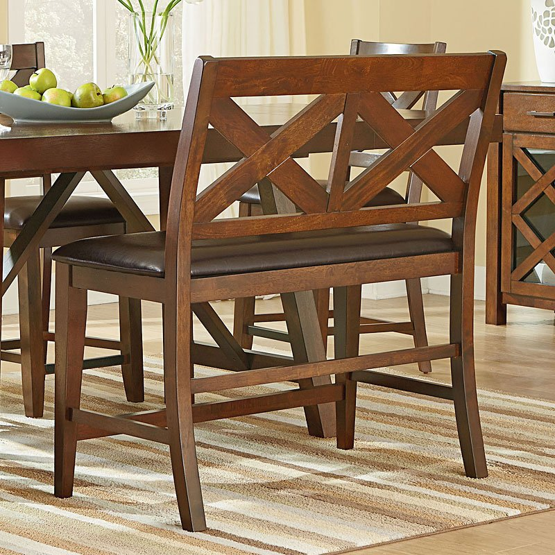 Kitchen Table Omaha: Omaha Counter Height Bench (Brown) Standard Furniture
