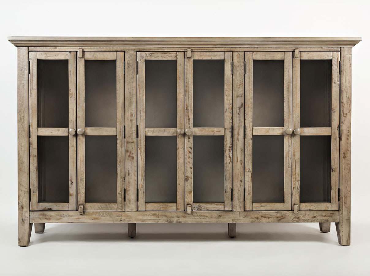 Rustic Shores 70 Inch Accent Cabinet (Weathered Grey)